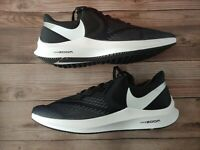 NIB Nike Air Zoom Winflo 6 Men's Running Shoes, Black/White, Size 12