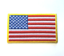 American Flag Patch Usa Patch Us United States Patch Embroidered Iron/sew on#35