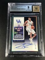 KARL ANTHONY TOWNS 2015 CONTENDERS DRAFT TICKET AUTO ROOKIE RC /99 BGS 9 10