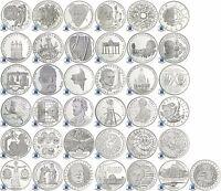 BRD 10 DM Münzen 1987 bis 2001 bfr Einzeln oder Komplett-Serie in Münzkapsel