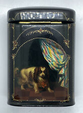 Fedoskino Konstantin Danshin King Charles & Spaniel Dog Russian Lacquer Box