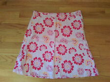 H&M L.O..G.G PRINTED LINEN SKIRT SIZE 12 FULLY LINED