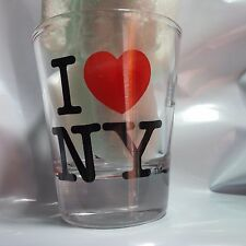 I HEART NY CLEAR SHOT GLASS LOVE NEW YORK OFFICIALLY LICENSED