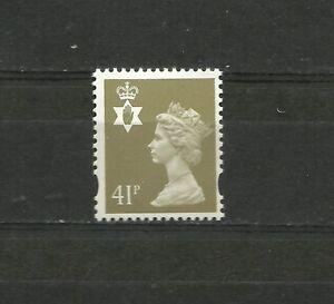 N. Ireland Machin 41p Questa 2B Yellow Fluor NFCP PVA SG N176 MNH