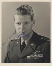 """WW2 Air Force general Lauris Norstad signed 8"""" x 10"""" photo in Air Force uniform"""