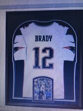 d64185a47 Tom Brady Signed Patriots Nike White Elite Jersey Framed First SB  36 49  Steiner