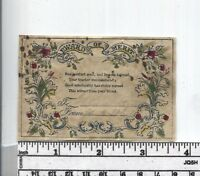Antique Reward of Merit - Hand Colored Floral Design
