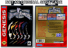 Mighty Morphin Power Rangers: The Movie - Sega Genesis Custom Case *NO GAME*