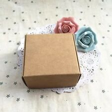 100x Kraft Paper Favour Box Wedding Handmade Product Packaging Gift Box 8x8x4cm