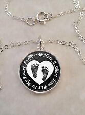 Sterling Silver .925 Pendant Heart Forever Infant Loss Stillbirth Miscarriage