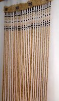 Wooden Curtain beaded window door room divider screen handmade eco wood beads