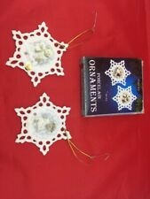Tbc Boyds Bear Porcelain Ornaments Snowflake Star 2 in Box Giftco