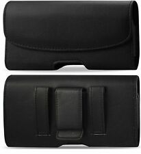 For AT&T Samsung Galaxy mega 2 XL BELT CLIP HOLSTER LEATHER POUCH CASE