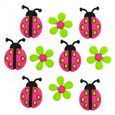 Dress it up Ladybug Crossing 9385 set of 2 Packages of Button FREE US SHIPPING