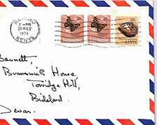 XX268 1974 KENYA MIXED FRANKING TANZANIA Commercial Airmail Cover BUTTERFLIES