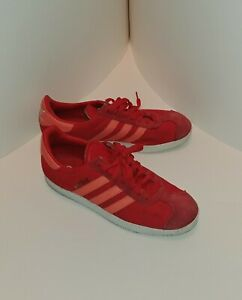 Adidas Gazelle Mens Red/Coral Size 8 Sneakers.