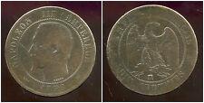 FRANCE  FRANCIA  10 centimes NAPOLEON III   1855 MA  ( CHIEN )