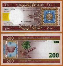 Mauritania / Africa, 200 Ouguiya, 2004, P-11 (11a), Unc