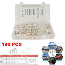 190Pcs Car Audio Cable Housing Wire Ferrules Pin Cord End Terminal Connector Kit