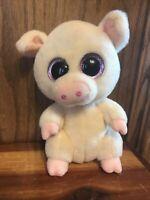 "TY Beanie Boos 6"" PIGGLEY the Pig Bean Plush Stuffed Animal Toy #0277"