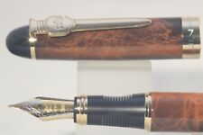 New Jinhao x450 MKII Lacquered Thuya Fine Fountain Pen with Gold Trim