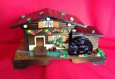 Nice Log Cabin Trinket Box Musical Pre-Owned