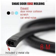 1+1 Snake U Metal Clip Structure Car Door Edge Molding 8M + Hammer for set-up