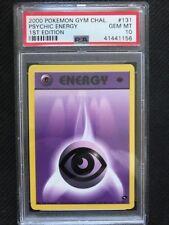 PSA 10 Gem Mint - PSYCHIC ENERGY - Pokemon TCG: Gym Challenge 1st Edition #131