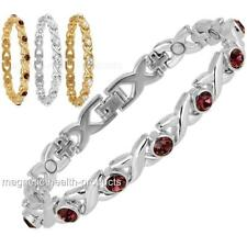 femmes Magnétique Bracelet de guérison or, argent cristaux arthrite douleur