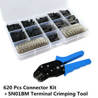 1Pcs SN01B Terminal Crimping Plier Tool+620Pcs 2.54mm Connector Crimp Pins Kit