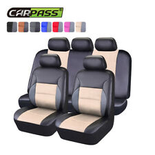 Carpass 11pcsbreathable PU Leather Universal Fit Car/ SUV /truck Car Seat Covers
