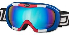 DIRTY DOG SCOPE SKI GOGGLES RED WHITE BLUE FRAME MIRROR LENS LARGE 54095