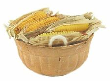 Dollhouse Miniature Basket Filled with Corn just Picked!