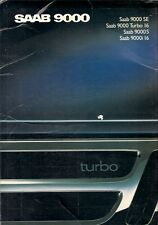 Saab 9000 Hatchback 1988-89 UK Market Sales Brochure i16 S Turbo 16 SE