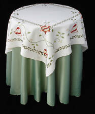 New Embroidered Christmas Tablecloth Topper Cloth X40
