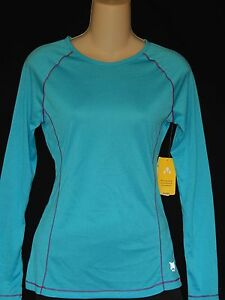 Everlast Athletic Shirt Womens Size S XL Wicking Teal Activewear Gym Workout NEW