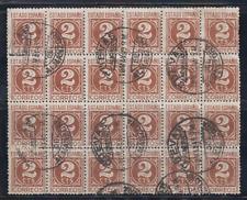 ESPAÑA (1937/40) USADO SPAIN - EDIFIL 815 - BLOQUE DE 24 SELLOS