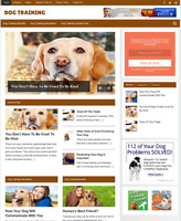 DOG TRAINING - Fully Featured Niche Business Website For Sale - Newbie Friendly