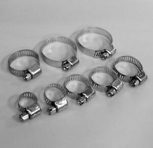 """68-Pc. Hose Clamp Assortment Set Sizes 1/2"""" to 1-1/2"""" Gear Type Assorted Clamps"""