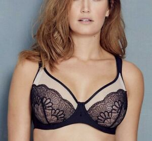 Berlei Beauty Style Wired Black Bra Underwired Mesh Black Nude