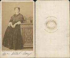 Bayard, Paris, Mme Vital CDV vintage albumen Tirage albuminé  6,5x10,5  Ci