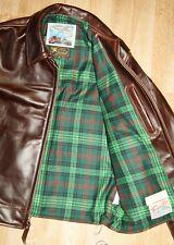Aero Highwayman sz 40 (fits like 44) Brown Chromexcel Steerhide Leather Jacket