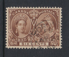 CANADA 1897 JUBILEE 6c BROWN SG 129 FINE USED.