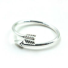 Women Girl Fashion Rings Gold Silver Adjustable Arrow Open Knuckle Rings Jewelry