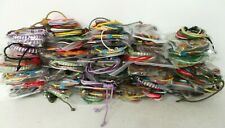 Wholesale Lot of 100 Cord & String Bracelets Mixed Colours/Designs Only 33p Each