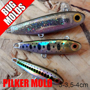 Fishing Lead Sinker Molds Jig Molds DIY Pilker 30mm 35mm 40mm