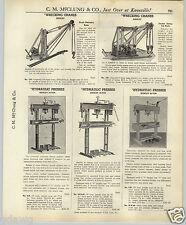 1937 PAPER AD Manley Tow Truck Wrecking Wrecker Crane Double Boom Heavy Duty