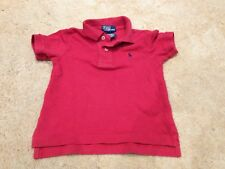 Ralph Lauren Boys Polo Shirt Red Boys 12 Months (H418)