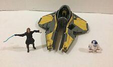 Star Wars Starfighter Vehicle Anakin Skywalker Jedi Starfighter R2D2 Hasbro HTF!