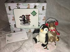 "Charming Tails ""Making Tracks To Christmas "" Dean Griff Christmas Penguin �"